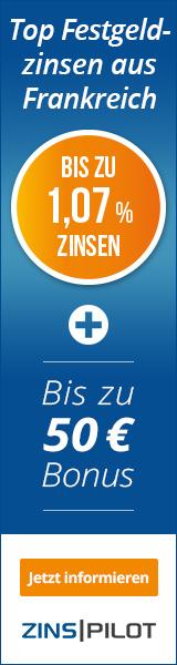 Oney Bank Festgeld Banner 160x600