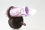 500 Euroschein in Schloss